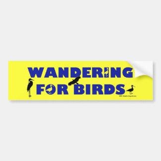 El vagar para los pájaros pegatina de parachoque