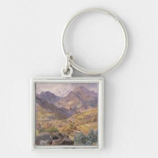 El Valle de Aosta, 1858 (aceite en lona) Llavero Personalizado