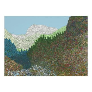 El valle de sueños zurdos - impresión posters