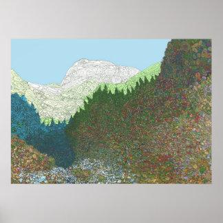 El valle de sueños zurdos - impresión póster