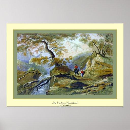 El valle de Uzenbash~ Carlo Bossoli Posters
