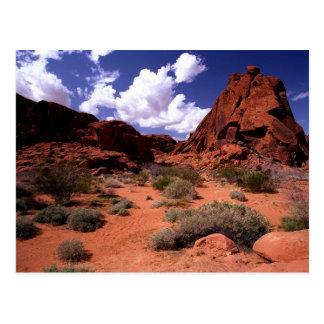 El valle del fuego, áreas de Las Vegas Tarjetas Postales