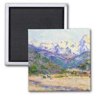 El valle del Nervia, Claude Monet 1884 Imán Cuadrado