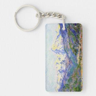 El valle del Nervia, Claude Monet 1884 Llavero Rectangular Acrílico A Doble Cara