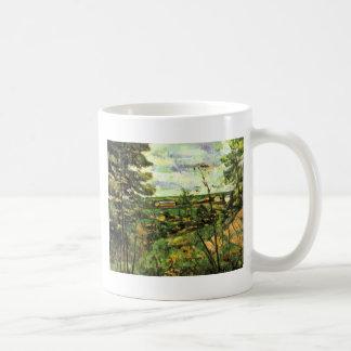 El valle del Oise de Paul Cézanne Tazas