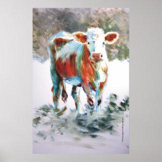El valor de la pintura de la vaca de la juventud poster