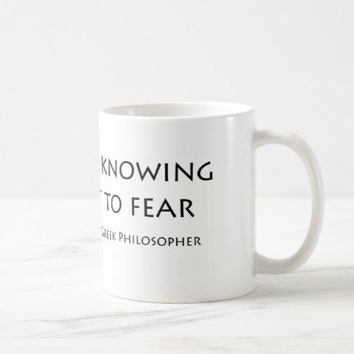 """El """"valor está sabiendo…."""" tazas de café"""