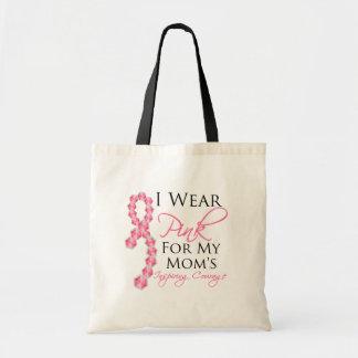 El valor inspirador de la mamá - cáncer de pecho bolsas lienzo