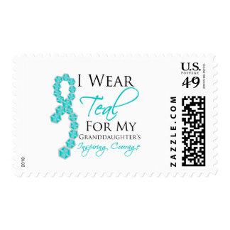 El valor inspirador de la nieta - cáncer ovárico sello