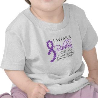 El valor inspirador del abuelo - cáncer camisetas