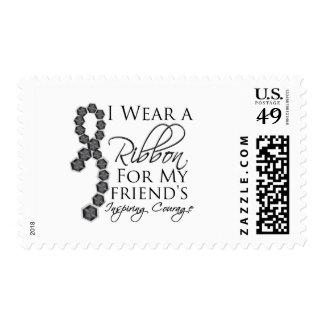 El valor inspirador del amigo - cáncer de piel sello postal