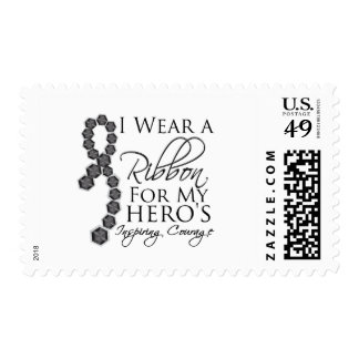 El valor inspirador del héroe - cáncer de piel timbre postal