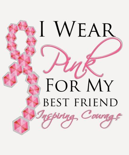 El valor inspirador del mejor amigo - cáncer de camiseta