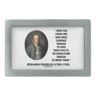 El valor posee su cita de Franklin de la Hebillas De Cinturon Rectangulares