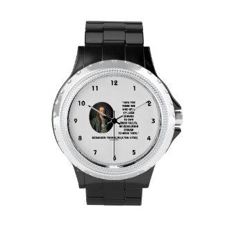 El valor posee su cita de Franklin de la Relojes De Pulsera