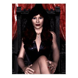 El vampiro de la condesa gótico postal