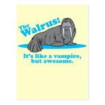 El vampiro de la morsa tarjeta postal