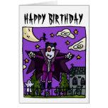 El vampiro embroma la tarjeta de cumpleaños