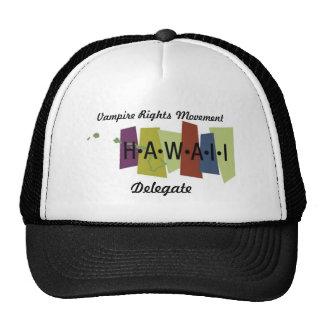 El vampiro endereza el movimiento - Hawaii Gorras De Camionero