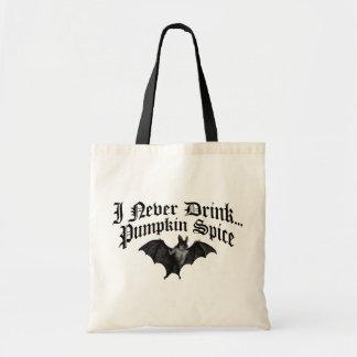 El vampiro I nunca bebe la especia de la calabaza Bolsas