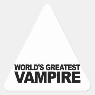 El vampiro más grande del mundo pegatina triangular