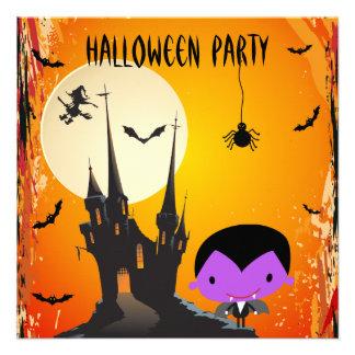 El vampiro y el fiesta lindos de Halloween del cas Anuncios