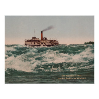 El vapor de Hamilton, Rapids de Lachine acerca a M Póster