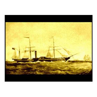 El vapor de paleta, ` Britannia del RMS', 1840 Tarjetas Postales