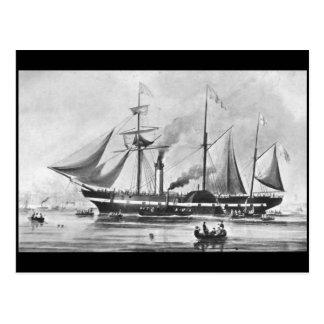 El vapor de paleta, presidente del `', 1840 tarjetas postales