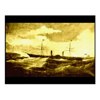 El vapor de paleta, ` Scotia', 1863 Postales