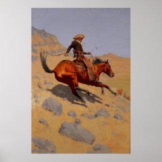 El vaquero 1902 de Remington Póster