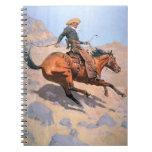 El vaquero (aceite en lona) libros de apuntes con espiral