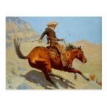 El vaquero de Federico Remington (1902) Postal