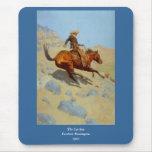 El vaquero de Federico Remington (1902) Alfombrilla De Ratón