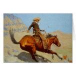 El vaquero de Federico Remington (1902) Tarjeta