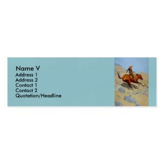 El vaquero de Federico Remington (1902) Tarjeta De Visita