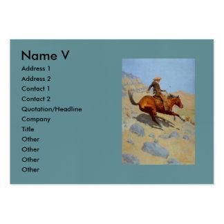 El vaquero de Federico Remington (1902) Tarjetas Personales