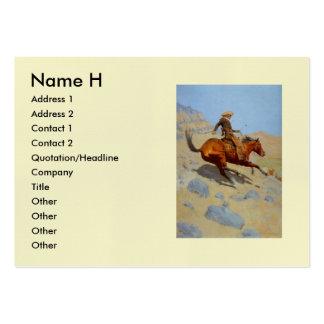 El vaquero de Federico Remington (1902) Plantillas De Tarjetas De Visita