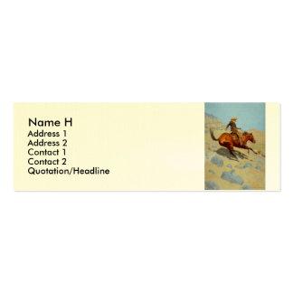 El vaquero de Federico Remington (1902) Tarjeta Personal