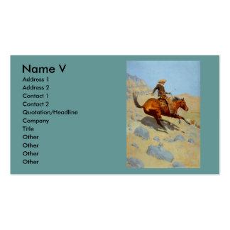 El vaquero de Federico Remington (1902) Tarjetas De Visita