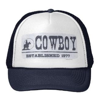 El vaquero estableció 1977 gorras
