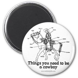 El vaquero imán redondo 5 cm