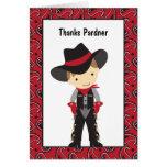 El vaquero le agradece cardar tarjeta