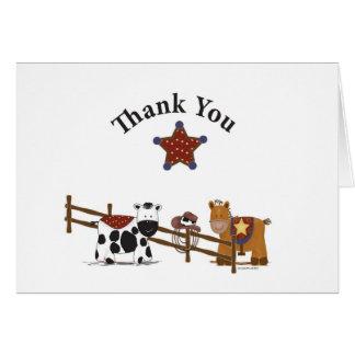 El vaquero le agradece cardar felicitacion