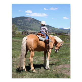 El vaquero más pequeño ensillado para arriba fotografías