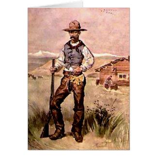 El vaquero tarjeta de felicitación