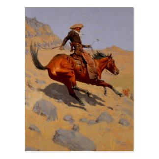 El vaquero tarjeta postal