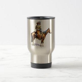 El vaquero taza de viaje de acero inoxidable