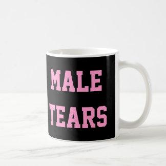 El varón rasga el negro rosado irónico de Misandry Tazas