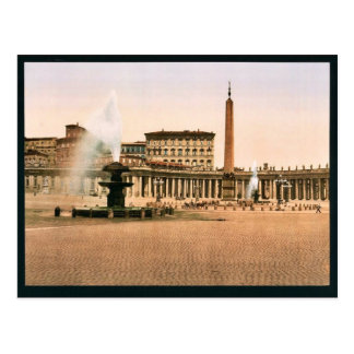El Vatican II, obra clásica Photochrom de Roma, It Postal